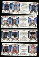 1987 Stuart Super Stars baseball lot of 4 panels with Dawson, George Bell Parker