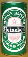 HEINEKEN LAGER BEER 12oz Foreign Beer CAN w/ Star, Holland, NETHERLANDS grade 1+