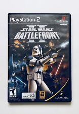 Star Wars Battlefront II Sony Playstation 2 PS2 Video Game Complete Good Shape