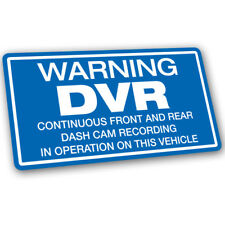 Warning DVR Dash Cam Recording Vehicle Sticker - 14cm x 7.5cm Blue Car Decal