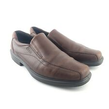 ECCO Mens Size 9 Helsinki Leather Closed Toe Slip On Shoes Cocoa Brown