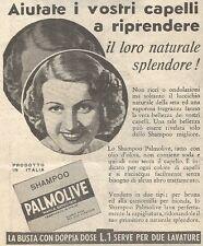 Y3013 Shampoo PALMOLIVE - Aiutate i vostri... - Pubblicità del 1939 - Old advert