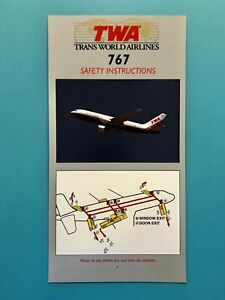 1997 TWA AIRLINES SAFETY CARD--767