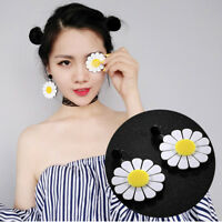 Women Fashion Acrylic Big Daisy Dangle Earrings Piercing Ear Pendant Decor New