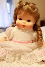 Adorable Vintage Artist Reproduction 40s Doll with Swiss Dot Dress Composition