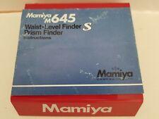 MAMIYA M645 WAIST LEVEL FINDER INSTRUCTION MANUAL (ORIGINAL PRINT JAPAN)