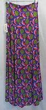 Women's LuLaRoe Blue Violet Red Purple Green Floral Maxi Skirt In SMALL NWT