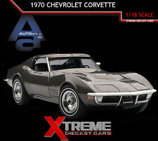 AUTOART 71173 1:18 1970 CHEVROLET CORVETTE COUPE LAGUNA GRAY METALLIC DIECAST