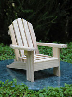 Miniature Dollhouse FAIRY GARDEN Furniture ~ Unfinished Wood Adirondack Chair
