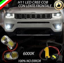 COPPIA LAMPADE FENDINEBBIA H11 LED CREE COB CANBUS PER JEEP COMPASS MK2 6000K