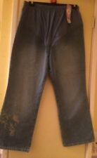 """BRAND NEW NEXT MATERNITY CROPPED EMBROIDERED JEANS SIZE 14 24"""" LEG"""