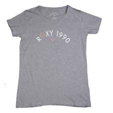 Roxy Girl's Heather Grey Roxy 1990 Round Neck S/S T-Shirt (S01)