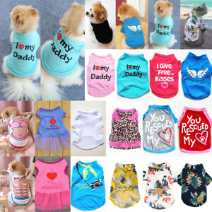 Pet Clothing Dog Cat Clothes Summer Puppy T Shirt Small Dogs Chihuahua Vest HOT