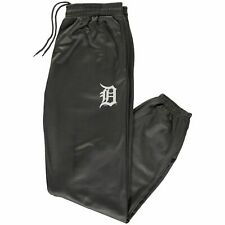 Men's Detroit Tigers Majestic Charcoal Big & Tall Fleece Lined Pants Grey A10481