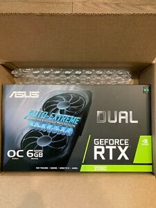 **NEW SEALED* ASUS GeForce RTX 2060 Overclocked Dual-Fan 6GB GDDR6 Graphics Card