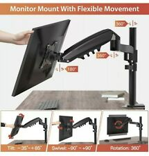 """ErGear 13""""-34"""" 9KG Monitor Arm Gas Spring Powred with Full-range Monitor TV"""