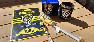 Richmond Tigers AFL Fan Lot - Mug, Stubby Holder, Flag, Pen & Sign. Premiers.