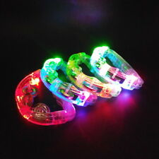 12 Flashing Tambourines Light Up Round Jingles LED Church Autism Sensory Toy Lot