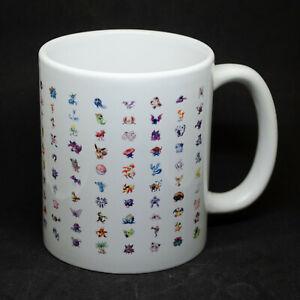 Pokemon Mug Cup with Original 150   PokemonGo Pikachu Rocket Nintendo Charmander