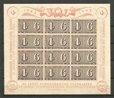 Switzerland / Helvetia / Suisse 1943 - Souvenir Sheet 8 MH * CV 55€