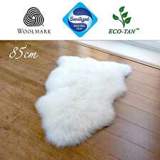 New 85cm Ultra Fleece Single Sheepskin Rug Eco-Tan Sanitized Australian Lambskin