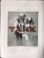 Banksy - Lithographie signée et numerotée .prix Galerie 350 e