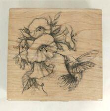 Inkadinkado Hummingbird And Flower Rubber Stamp 97077 Q