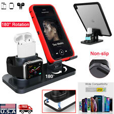 3 in 1 Charging Dock Station Stand Tablet Holder iPhone Apple Watch AirPods iPad