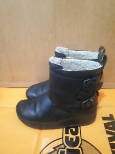 FITFLOP Ladies Boots Black Mid Calf Size 6 ,In Excellent Condition