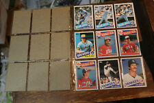 1985 TOPPS BASEBALL BLANK BACKS - 18 DIFF CARDS
