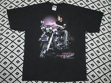 Vtg 90`s Elvis Presley T Shirt 1992 Motorcycle print rock blk L/XL