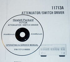 HP 11713A ATTENUATOR / SWITCH DRIVER:Operating & Service Manual (Good Schematic)
