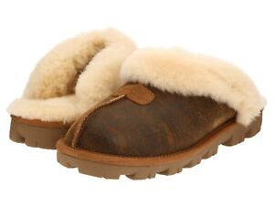 UGG Australia Bomber Jacket CHESTNUT Brown COQUETTE Slippers SHOES  US 10