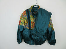 Vintage Colorblock Windbreaker Track Suit Jacket Pants River Edge Nylon Women M
