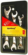 Stainless Steel Alden 10,12,13,14,15,17mm Ratcheting Wrench Set 3pc Metic #56039