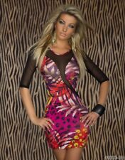 Women's BodyCon Mini Dress Floral Fitted Stretch Dress Lace Sleeve Round Neck