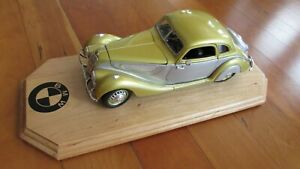 1936 BMW 328 coupe beautiful gold / silver doors hood open 1:18 by Guiloy 10 in.