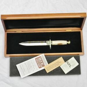 BUCK CUSTOM USA 1986 HARLEY DAVIDSON 50th Annivers V-Twin Engine dagger stag NIB