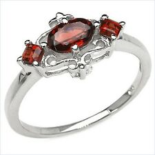Damen Ring Allegra, 925er Silber, 0,89 Kt. Granat, Gr. 55