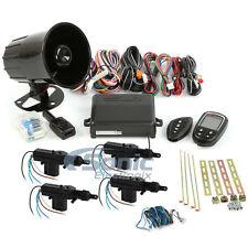 Encore E4 2-Way Keyless Entry Car Alarm Security System w/ 4-Door Power Lock Kit