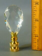 Stunning  Crystal  Prism Brass Lamp Shade Finial  2 3/4'' High  #N100