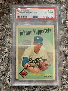 1959 TOPPS BASEBALL #152 JOHNNY KLIPPSTEIN  PSA 6 KGC-39987