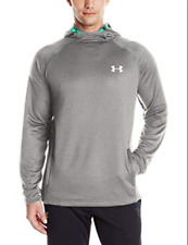 Under Armour UA Mens Tech Terry Hoodie True Gray Heather Silver Small