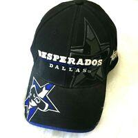 Vtg Dallas Desperados Black Afl Football Baseball Hat Cap Drew Pearson Blue Rare Ebay