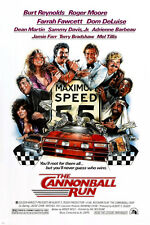 THE CANNONBALL RUN movie poster BURT REYNOLDS FARRAH FAWCETT car chase 24X36