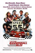THE CANNONBALL RUN movie poster BURT REYNOLDS FARRAH FAWCETT car chase 24X36
