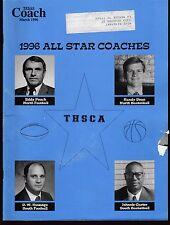 1996 Texas Coach Magazine March All Star Coaches 19260