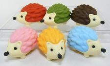 Set of 6 pieces Japanese Iwako erasers - Hedgehog (Color May Vary) S-3554 Au