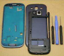 COQUE COMPLETE REMPLACEMENT FACADE CHASSIS SAMSUNG GALAXY S3 LTE 4G i9305 BLEU