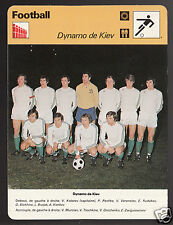 DYNAMO DE KIEV Soccer Football Team Photo 1978 FRANCE SPORTSCASTER CARD 41-14